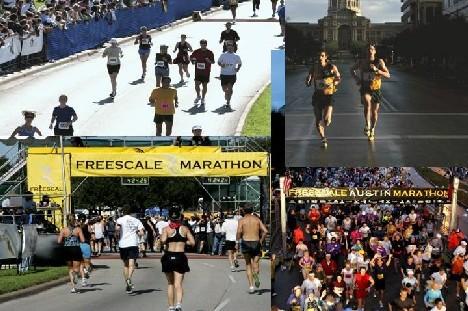 Austin Freescale Marathon Start Line