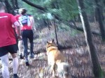 Maurie passing people on the trail