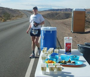 Blaine Moore at the Mile 41 Aid Station