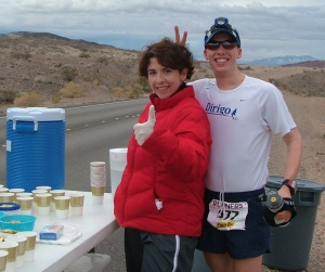 Liz Sottile and Blaine Moore at Mile 9