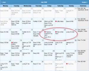 Calendar (Running Ahead)