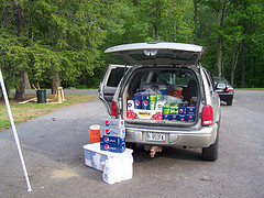 Pineland Farms Aid Station Setup