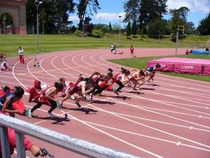 100m Starting Line