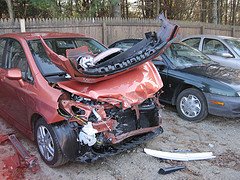 Totaled Honda Fit