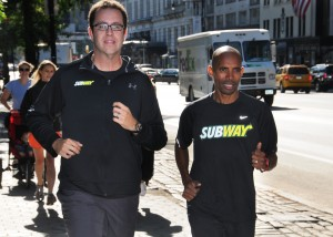 Jared and Meb training for New York City Marathon